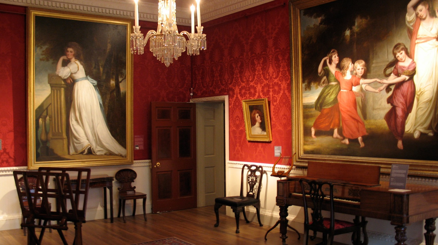 Abbot Hall Art Gallery. George Romney's Gower Family in the Saloon.