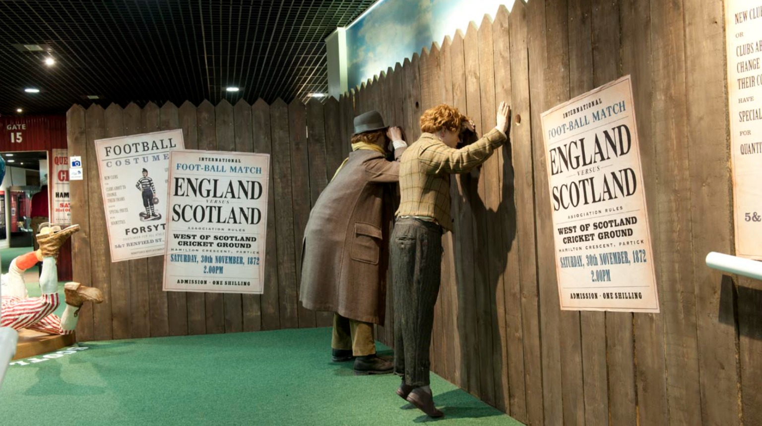 Scottish Football Museum collection display