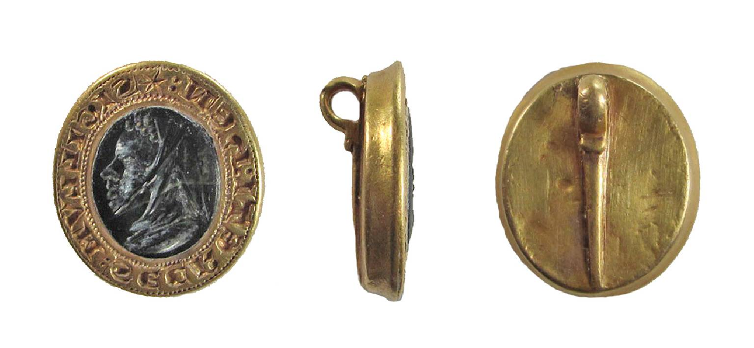 Gold Medieval Seal Matrix from Epwell, Oxfordshire