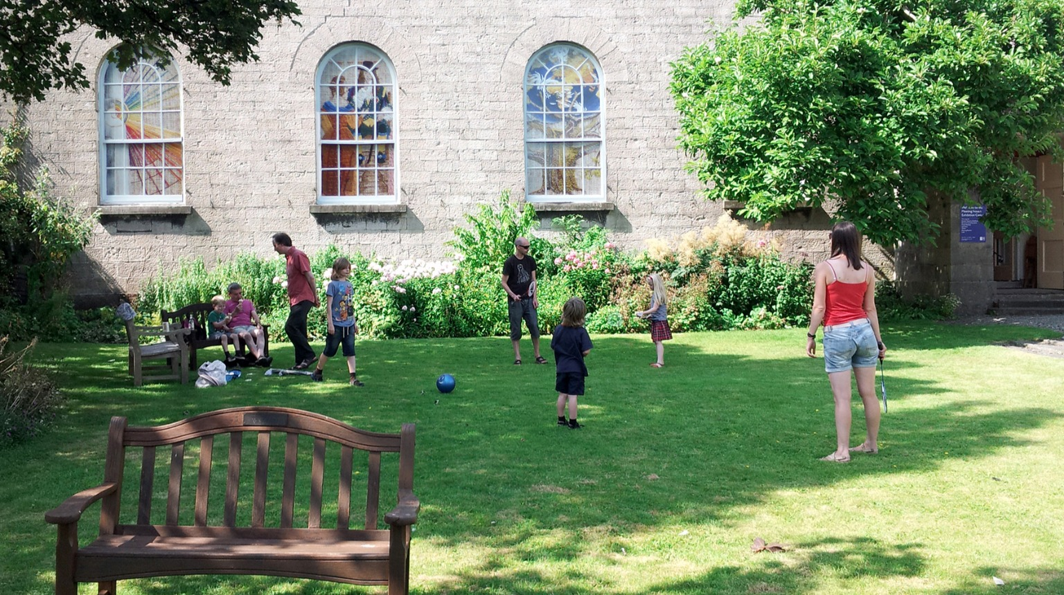 A space to run and play in the garden